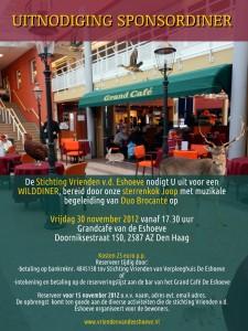 Eshoeve Sponsor diner Wild diner